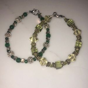 Set of two handcrafted bracelets